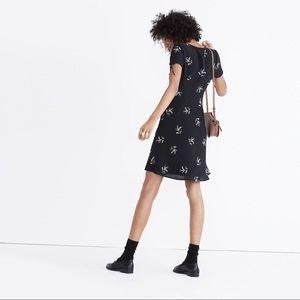 Madewell Silk Poppy Dress - wild botanic